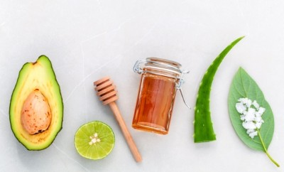 ingredients for avocado mask featured