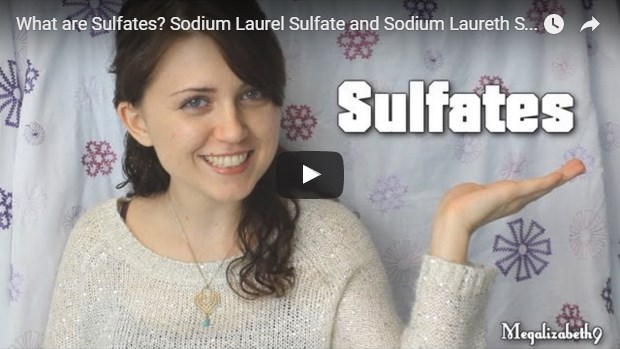 video template for sulfates and cosmetics