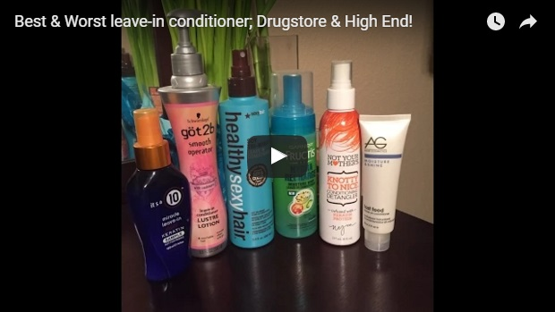 video template for leave in conditioners