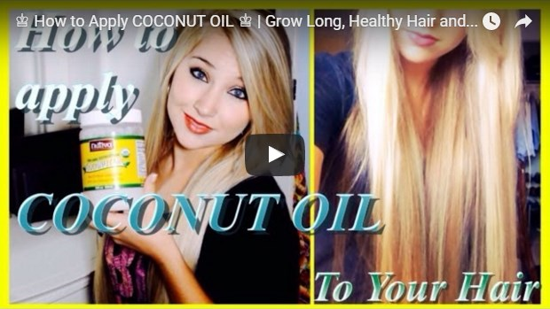 video template for using coconut oil on hair