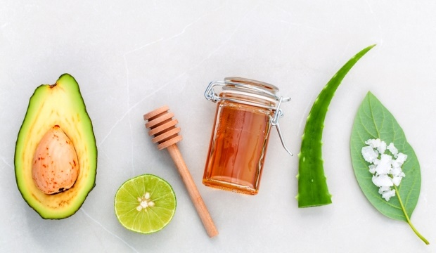 ingredients for avocado mask