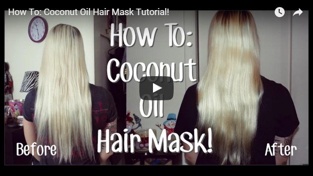 video template for coconut oil mask