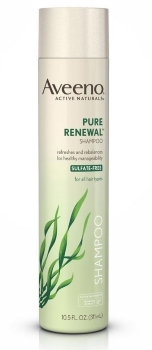 bottle of Aveeno Pure Renewal Shampoo