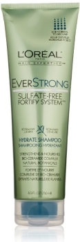 bottle of LOreal Paris Everstrong Hydrate Shampoo