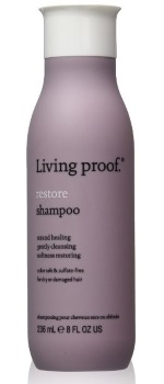 bottle of Living Proof Restore Shampoo
