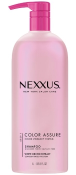 bottle of Nexxus Color Assure Vibrancy Retention Shampoo
