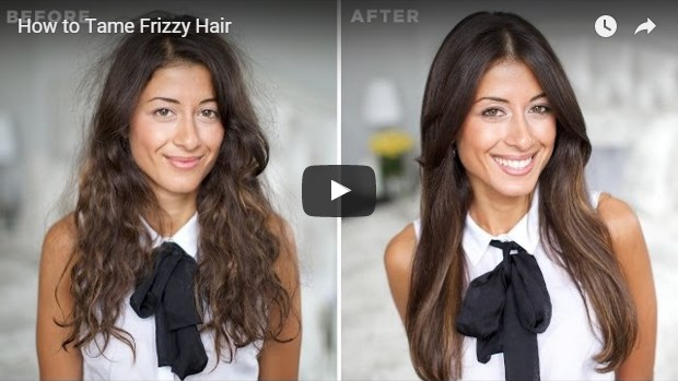 video template for taming frizzy hair